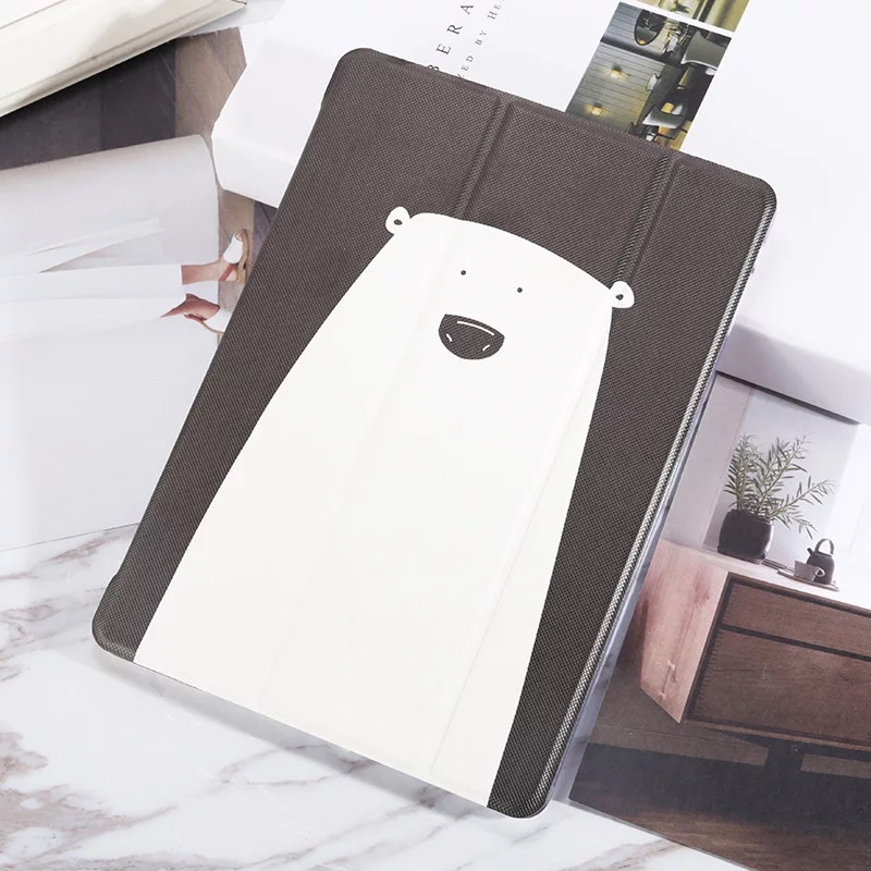 White Bear Sea Otter Pattern Cover For Ipad Mini Air 2017 2018 New 9 7 Inch