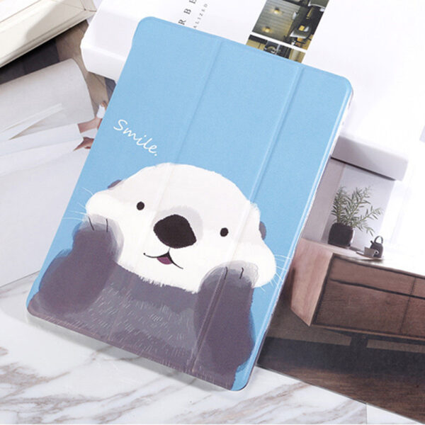 White Bear Sea Otter Pattern Cover For iPad Mini Air Pro New iPad IPCC06_2