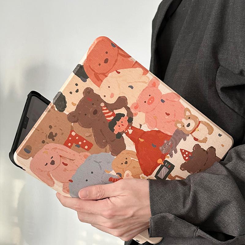 White Bear Sea Otter Pattern Cover For iPad Mini Air 2017 2018 New iPad 9.7 Inch IPCC06_2