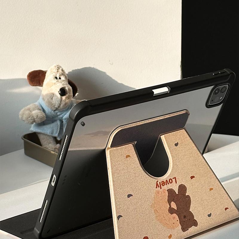 White Bear Sea Otter Pattern Cover For iPad Mini Air 2017 2018 New iPad 9.7 Inch IPCC06_3