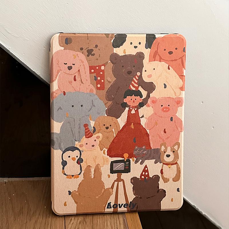 White Bear Sea Otter Pattern Cover For iPad Mini Air 2017 2018 New iPad 9.7 Inch IPCC06_4