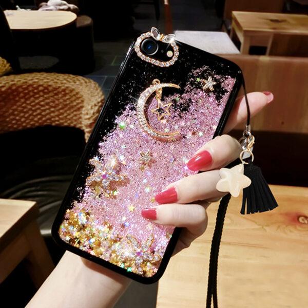 Glitter Liquid Flowing Case For iPhone 11 XS Max 8 7 6 Plus IPS616