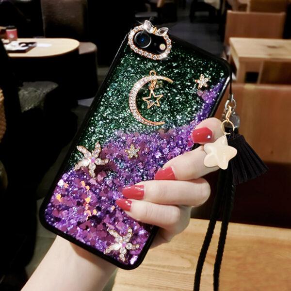 Glitter Liquid Flowing Case For iPhone 11 XS Max 8 7 6 Plus IPS616_2
