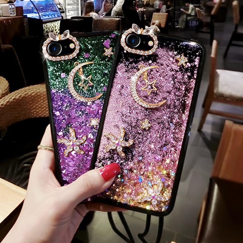 Glitter Liquid Flowing Case For iPhone 11 XS Max 8 7 6 Plus IPS616_3