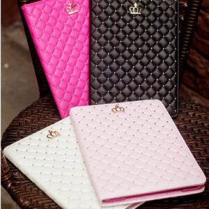 Best Luxury Black Pink Smart Covers Cases For iPad Air 2 IPCC07