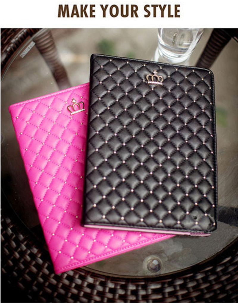 Best Luxury Black Pink Smart Covers Cases For Ipad Air 2