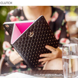 Best Luxury Black Pink Smart Covers Cases For iPad Air 2 IPCC07_3