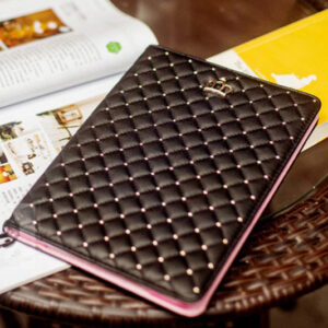 Best Luxury Black Pink Smart Covers Cases For iPad Air 2 IPCC07_4