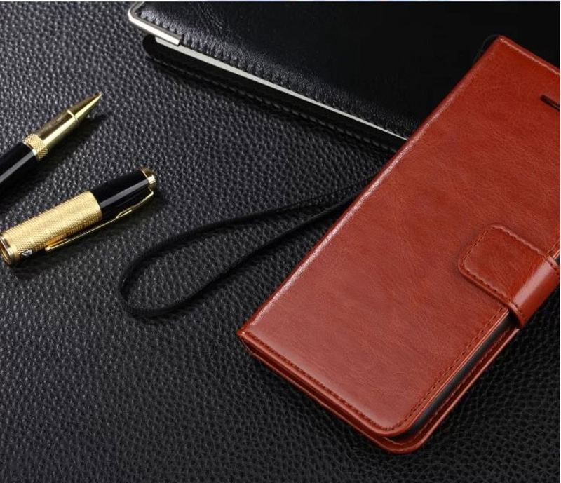 Cheap Black Leather iPhone 6 And 6 Plus Phone Wallets Case With A Card Holder IPS614