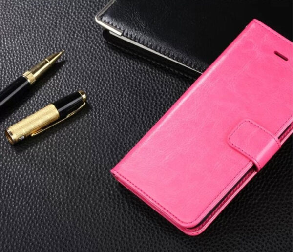 Cheap Black Leather iPhone 6 And 6 Plus Phone Wallets Case With A Card Holder IPS614_4