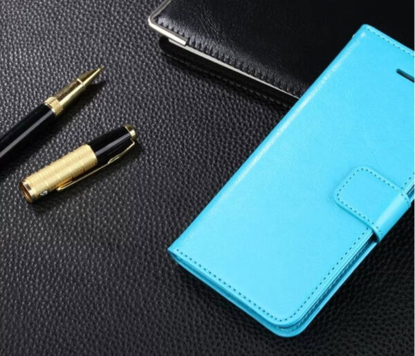 Cheap Black Leather iPhone 6 And 6 Plus Phone Wallets Case With A Card Holder IPS614_5