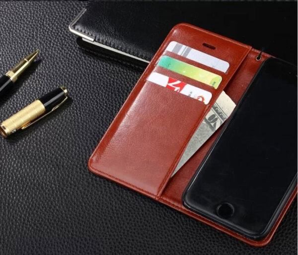 Cheap Black Leather iPhone 6 And 6 Plus Phone Wallets Case With A Card Holder IPS614_7