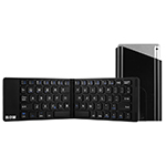 Best Aluminium Alloy Folding iPhone Samsung iPad Air Mini PC Notebook Bluetooth Keyboard PKB02