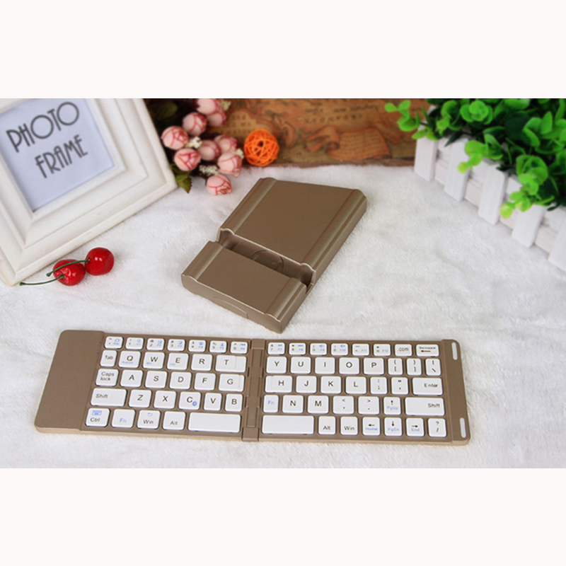 Best Aluminium Alloy Folding iPhone Samsung iPad Air Mini PC Notebook Bluetooth Keyboard PKB02_3