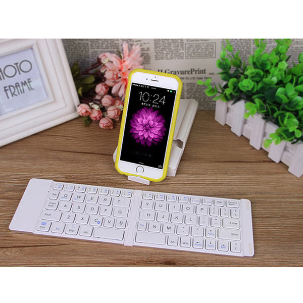 Best Aluminium Alloy Folding iPhone Samsung iPad Air Mini PC Notebook Bluetooth Keyboard PKB02_5