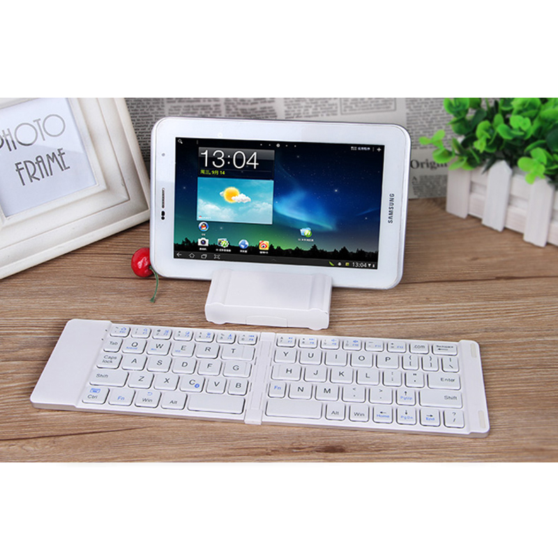 Best Aluminium Alloy Folding iPhone Samsung iPad Air Mini PC Notebook Bluetooth Keyboard PKB02_6