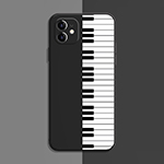 Best Black White TPU Piano iPhone 8 7 6 Plus 5S SE Case Cover IPS617