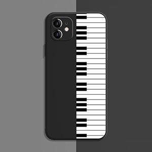 Best Black White TPU Piano iPhone 8 7 6 Plus 5S SE Case Cover IPS617