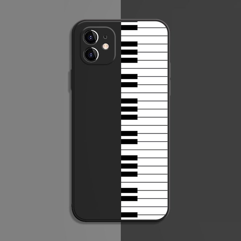 Best Black White TPU Piano iPhone 6 Cases iPhone 6 Piano Covers IPS617