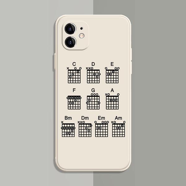 Best Black White TPU Piano iPhone 8 7 6 Plus 5S SE Case Cover IPS617_2