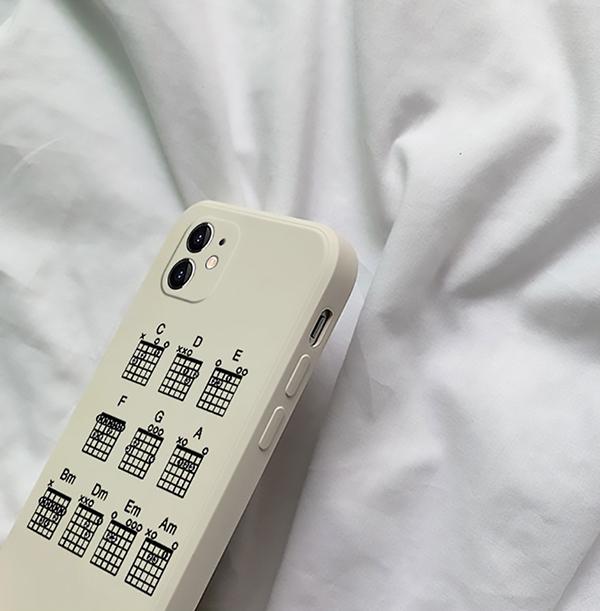 Best Black White TPU Piano iPhone 8 7 6 Plus 5S SE Case Cover IPS617_3