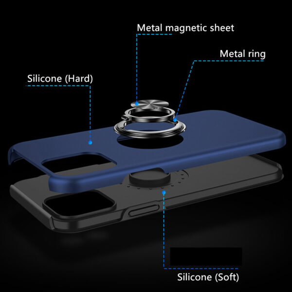 Creative Silicone Case With Ring For iPhone 13 Mini Pro Max IPS618_7