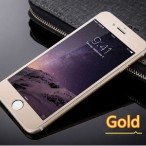Cheap Metal White Glass Screen Protector iPhone 6 And 6 Plus IPASP03