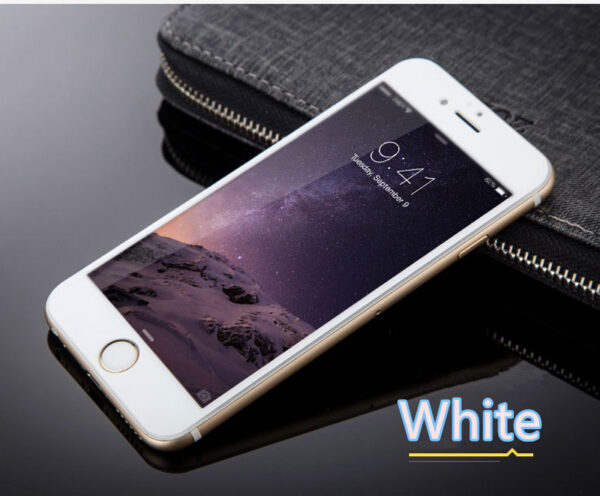Cheap Metal White Glass Screen Protector iPhone 6 And 6 Plus IPASP03_3