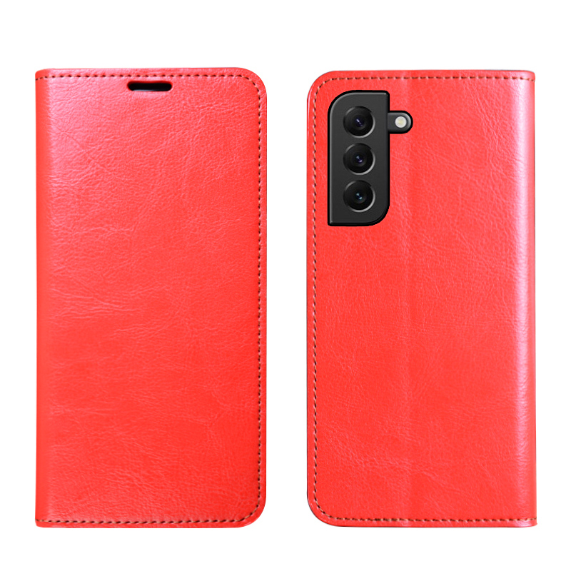 Leather Brown Samsung Galaxy S21 S20 Clamshell Case SG602_7