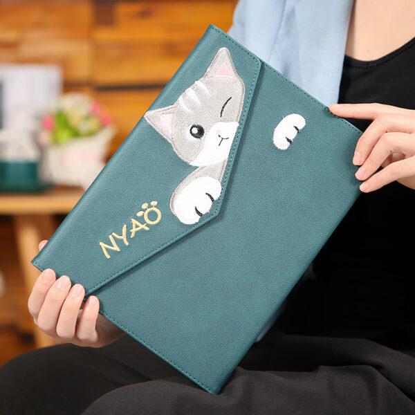 Embroidery Cat Pattern Cover For New iPad iPad Mini Air Pro IPCC08_2