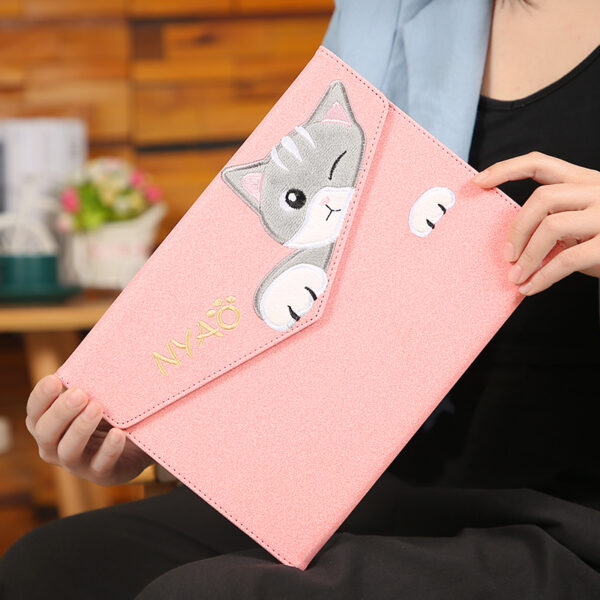 Embroidery Cat Pattern Cover For New iPad iPad Mini Air Pro IPCC08_3