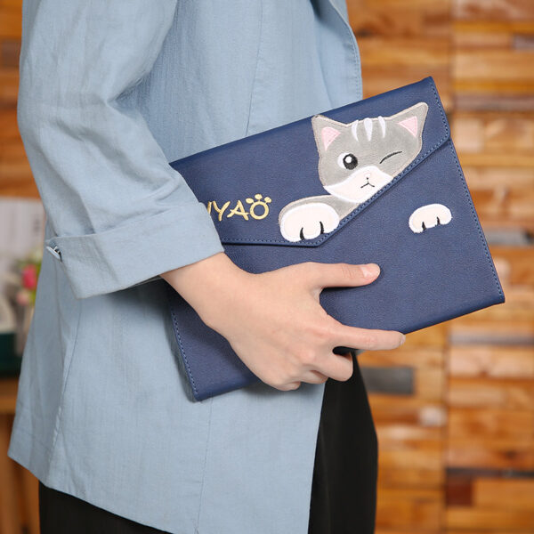 Painted Relief Cat Pattern Cover For 2018 New iPad iPad Mini Air IPCC08_5