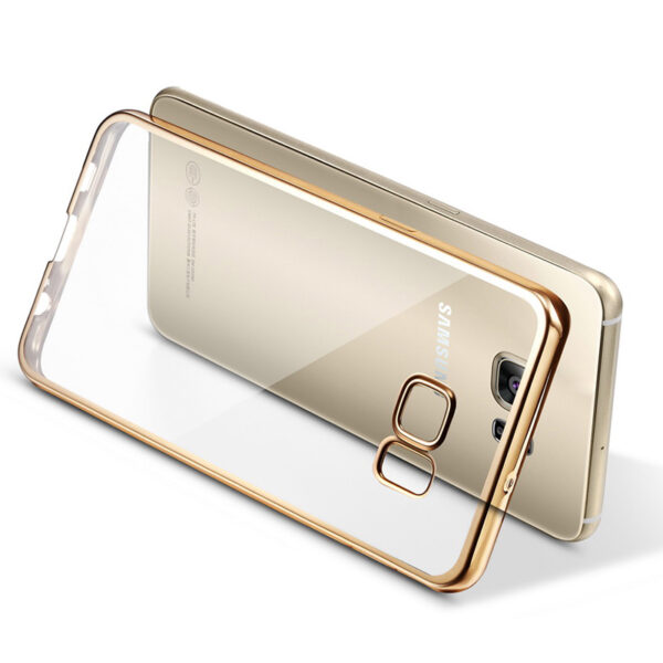 Anti-fall TPU Protective Transparent Cover Case For Samsung S6 And Edge SG601_5