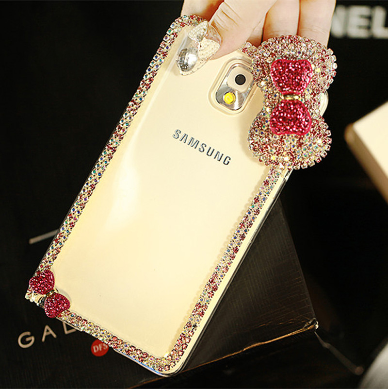Best Luxury Bowknot Diamond Phone Cases For Samsung S6 S5 Note 4 SG606_2