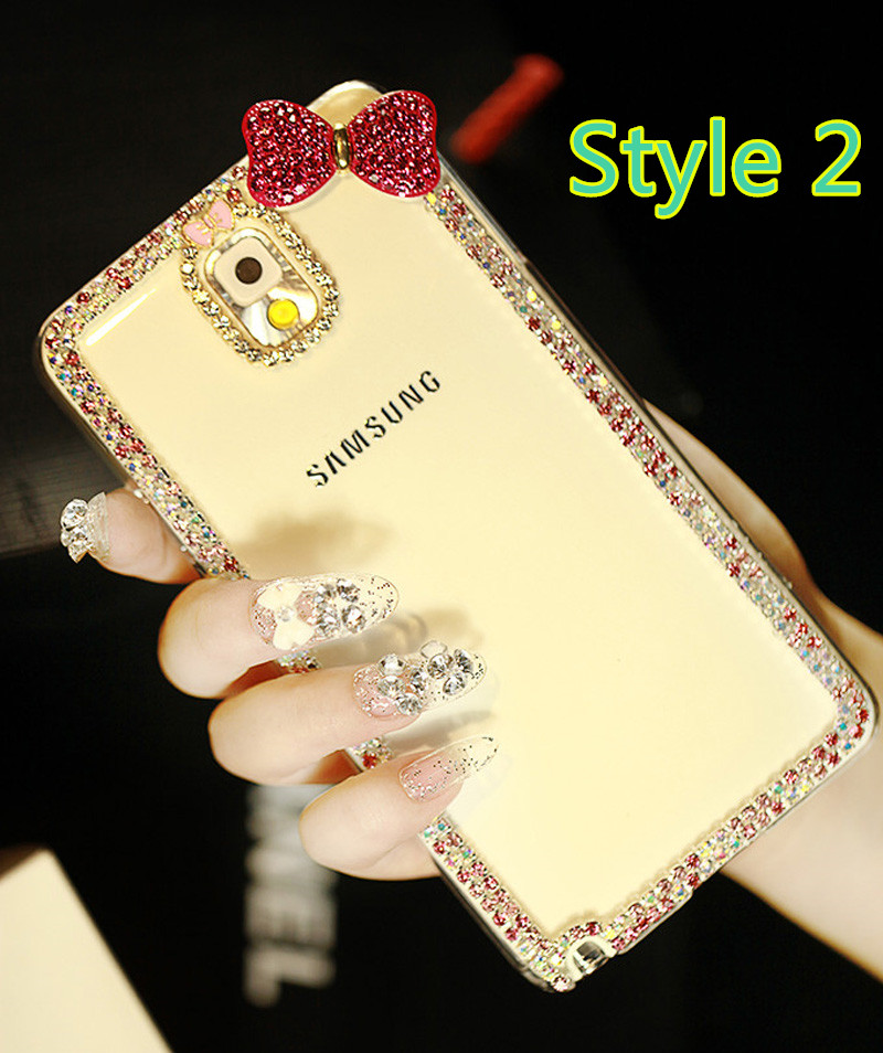 Best Luxury Bowknot Diamond Phone Cases For Samsung S6 S5 Note 4 SG606_3
