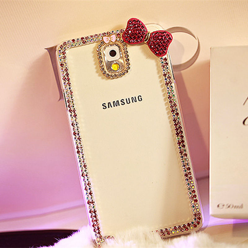 Best Luxury Bowknot Diamond Phone Cases For Samsung S6 S5 Note 4 SG606_4