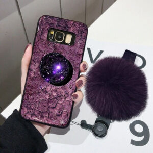 All-inclusive Marble Cover For Samsung Note 9 8 S9 8 7 6 Edge Plus With Hairball SG603