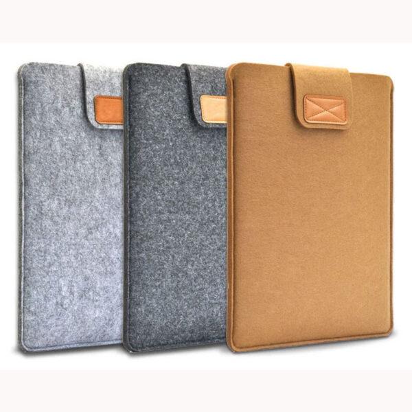 Best Light Grey 12 13 15 17 Inch Macbook Surface Felt Sleeve Bag MB1201