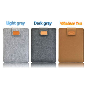 2018 Best Light Gray 12 Inch Leather Macbook Sleeve Bags MB1201_2