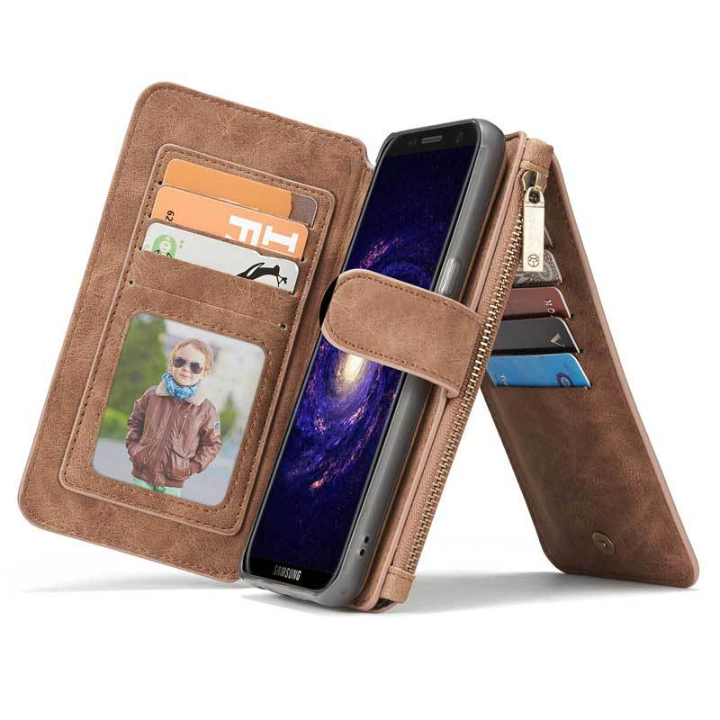 Vintage Leather Wallet Case For Samsung S9 8 7 6 Edge Plus Note 8 5 With Card Slot SG609