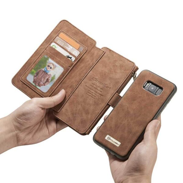 Vintage Leather Wallet Case For Samsung S9 8 7 6 Edge Plus Note 8 5 With Card Slot SG609_7