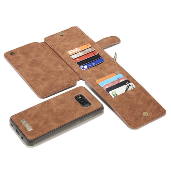 Vintage Leather Wallet Case For Samsung S9 8 7 6 Edge Plus Note 8 5 With Card Slot SG609_8