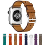Black Leather 38 42 mm Classic Modern Apple Watch Buckle For Men And Women AWB01