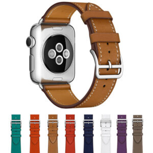 Leather 38MM 42MM Apple Watch Band For iWatch 1 2 3 AWB01