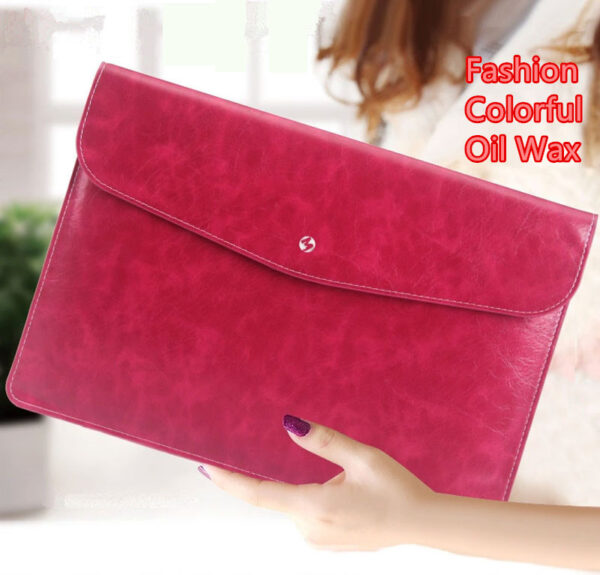 Cool Red Leather Bag Case For 12 Inch Macbook Pro Air 11 13 MB1202_2