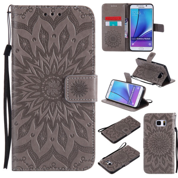 Leather Case With Card Holder For Samsung Galaxy S7 S6 Note 8 5 SG608_8