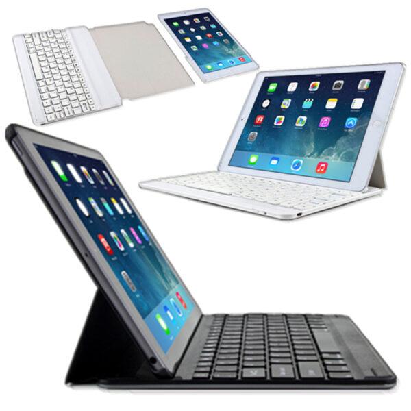 2019 Best Thin Comfortable Aluminum Keyboard With Cases For iPad Air iPad 6 iPad Mini IPCK04_2