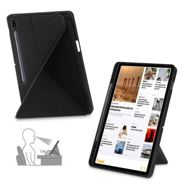 Cool Best Leather Samsung Galaxy Tab S7 And Plus Cover SGTC01_5