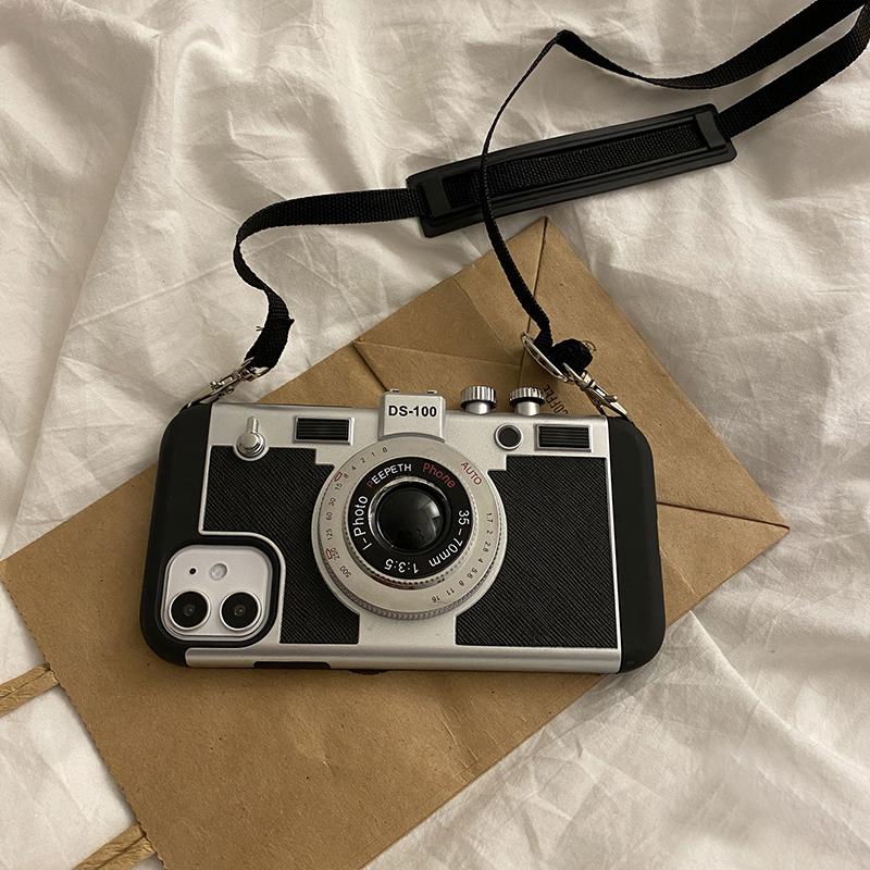 Creative Stereo Camera Case For iPhone 12 11 Mini Pro Max IPS621