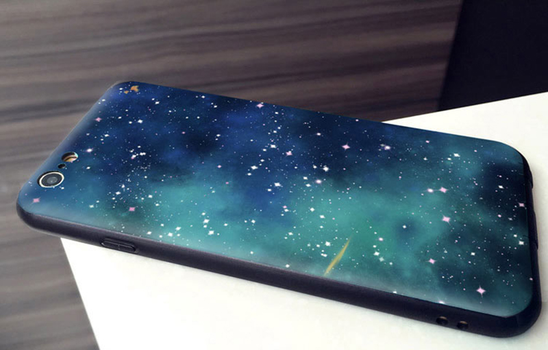 sale retailer 2d84d 86f10 2019 Blue Starry Sky iPhone 8 7 6 6S Plus Plastic Case IPS621
